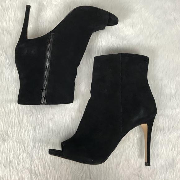 937f39653215 💥Steve Madden  Ladee  peep-toe heeled boots black.  M 5aad93ee50687c0380af1a02